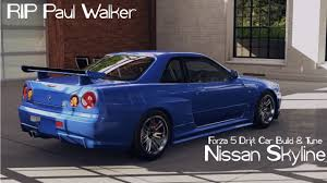 nissan skyline last year made forza 5 drift car building u0026 tuning 2 skyline r34 rip paul