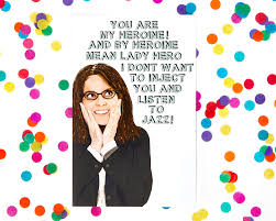 30 rock card liz lemon tina fey snl amy poehler jack