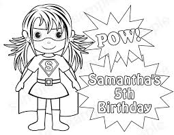 superhero 5th birthday free coloring u2022 kids superheros