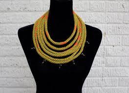 beaded necklace rope images Ankara rope necklace with beaded embellishment adinkra expo jpg