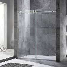 Frameless Shower Sliding Glass Doors Frameless Sliding Shower Door Ebay