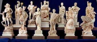 12 olympian gods set statues greek pantheon new