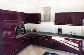 cuisine pourpre cuisine noir et prune photos de design d intérieur et décoration