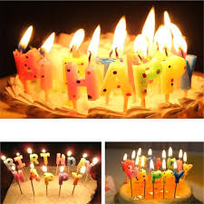 novelty funny happy birthday with round dot cake candle non toxic