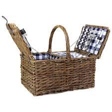 Picnic Basket Set For 4 Double Lidded Wicker Picnic Basket Set Charles Bentley