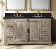 going gray aged wood bathroom vanities for a antique look