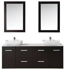 Bathroom Vanity Suites Floating Double Vessel Vanity Suite Espresso 63