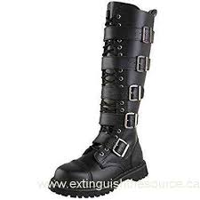 s high boots canada s black leather boots knee high warrior boots steel toe