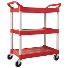 rubbermaid service cart with cabinet rubbermaid red plastic open foodservice cart 33 5 8 l x 18 5 8 w x