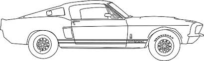 awing car mustang coloring pages place color 14754