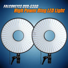 circle light for video falconeyes led super power dimmable led ring light video studio