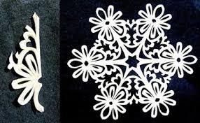 paper snowflake flower pattern free template