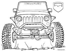 cartoon jeep front gallery u0027teraflex jeep coloring pages u0027 teraflex