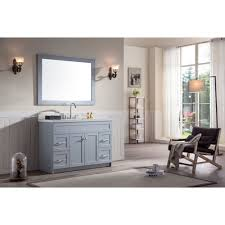 ace 49 inch transitional single sink bathroom vanity set in grey