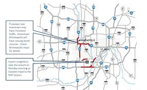 Msp Airport Map With Super Bowl Visitors Peaking Here Are The Roads To Avoid This