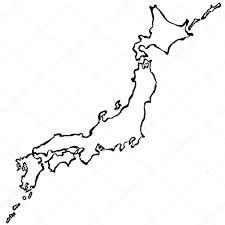 Map Japan Japan Map Brush Stroke Line U2014 Stock Vector Lalan33 45010393