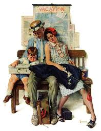 marmont hill home from vacation by norman rockwell painting