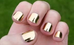 metallic gold nail polish cute nails for women