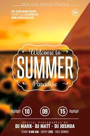template for flyer free download free flat end of summer minimal flyer template