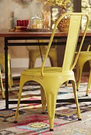 homelegance amara yellow metal chair yellow 5034ylws