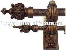 Window Curtain Double Rods Wooden Curtain Rod Interior Design