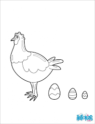 hen coloring pages animal little red for preschoolers colouring