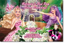 barbie birthday invitations candy wrappers cards