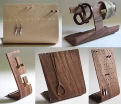earring necklace jewelry display images Wood jewelry display stand earrings ring necklace bracelets within jpg