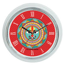 buy surya madhubani round wall clock online the elephant company