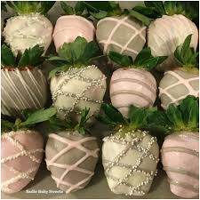 White Pink Chocolate Covered Strawberries Pink And Grey Chocolate Covered Strawberries Specialty Treats