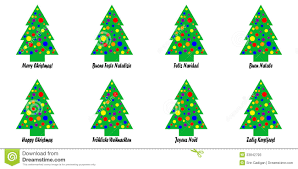 christmas tree tags or stickers stock illustration image 33842793