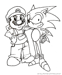 pictures mario sonic kids coloring