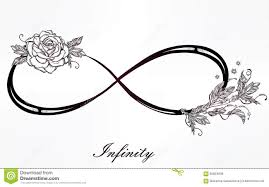 infinity sign infinity sign with rose stock illustration image of elegant
