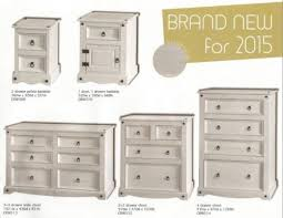 White Washed Bedroom Furniture by Premium Corona White Wash Bedroom Furniture 3 3 Drawer Chest