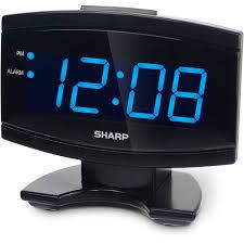Cool Digital Clocks Sharp Blue Led Alarm Clock Black Walmart Com