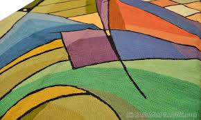 Modern Green Rugs Kandinsky Rugs Abstract Wall Hangings Accent Carpets