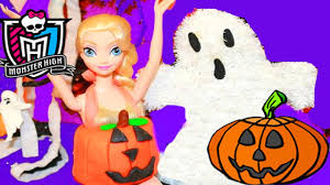 Halloween Monster High Doll Halloween Prank Barbie Frozen Monster High Doll Parody Play Doh