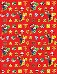 mario gift wrapping paper 4m roll co uk toys