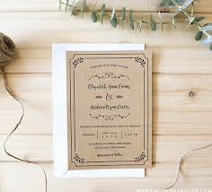 Wedding Invite Template Free Printable Wedding Invitation Template