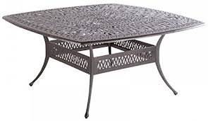 powder coated aluminum outdoor dining table mandalay cast aluminum powder coated 9pc outdoor patio set with 64