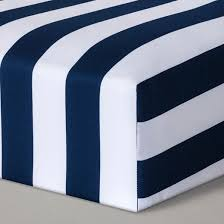 fitted crib sheet rugby stripes cloud island navy target