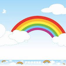 rainbow clouds wall border personalised nursery baby bedroom