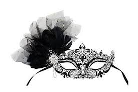 venetian masquerade mask camilla laser cut metal black feather venetian masquerade mask