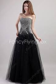 beaded sweetheart neckline puffy full length black tulle