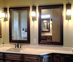 Framing An Existing Bathroom Mirror Framing Bathroom Mirrors With Crown Molding Framed Mirror Idea An