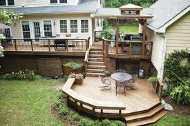 Backyard Wood Deck Wood Decks That Last Professional Deck Builder Lumber