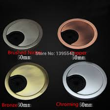 Small Desk Grommet by New 50mm Square Computer Desk Wire Hole Cover Office Desk Table