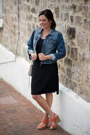 casual black dress with converse or wedge sandals