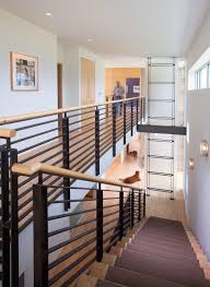 contemporary stair railings wood wood contemporary stair railing