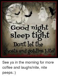 Good Nite Memes - good night sleep tight dont let the ghosts and goblins bite see ya